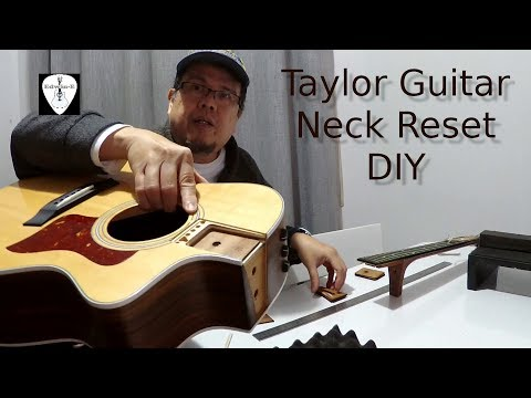 Taylor Acoustic Guitar Neck Reset DIY - Shims Replacement