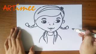 How to Draw Doc Mcstuffins