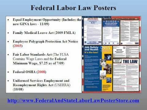 California Labor Law Posters 2011
