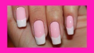 Как сделать френч на розовом тоне / How to make French on a pink tone.(По просьбе подписчиков снимаю это видео. Как сделать французский маникюр на розовом тоне. Такой френч немн..., 2013-08-31T10:55:38.000Z)