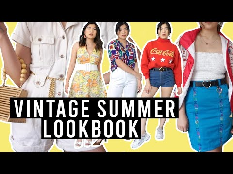 Vintage + Thrifted Summer Lookbook | Outfit Ideas And Styling Tips