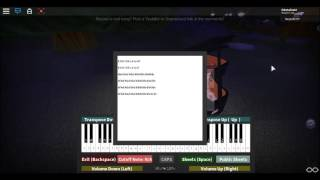 WELCOME TO THE BLACK PARADE ROBLOX PIANO (NOTES IN DESC.)