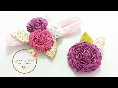 Flor de sianinha by  Tatiana Karina DIY/...