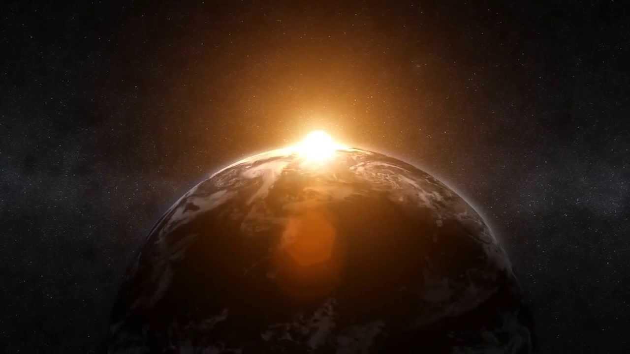 O nascer do Sol visto pelo espaço - YouTube
