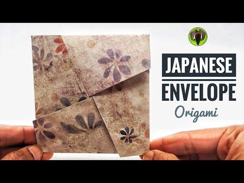 JAPANESE ENVELOPE  - DIY | Handmade Origami Tutorial by Paper Folds