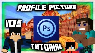 how to make a youtube profile picture on ios android using ps touch