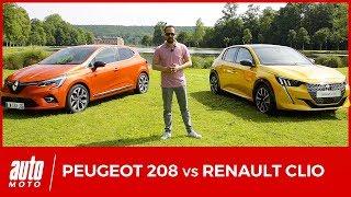 Nouvelle Peugeot 208 face à la Renault Clio 5 : 1er DUEL