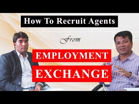 How To Recruit Agents from Employment Exchange ? [ HINDI ]