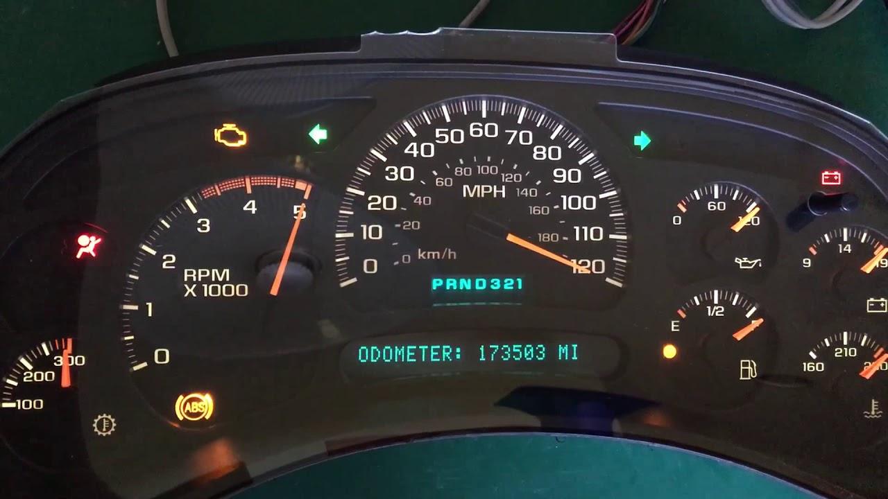 2003 GM Silverado Duramax Diesel Speedometer Instrument Gauge Cluster Repair