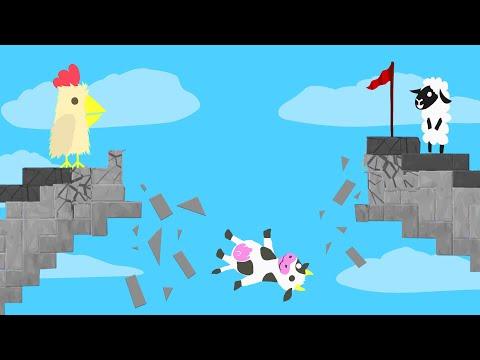 Jump The DANGEROUS BRIDGE COLLAPSE! - Ultimate Chicken Horse