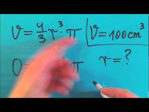 formelumstellung für volumen und oberfläche einer kugel teil 1