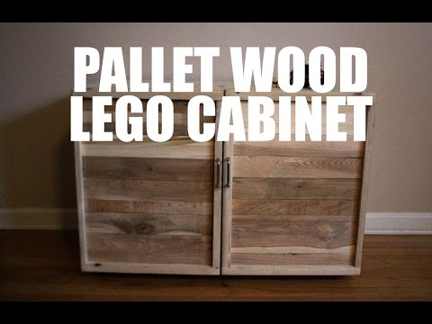 pallet wood lego cabinet youtube. Black Bedroom Furniture Sets. Home Design Ideas