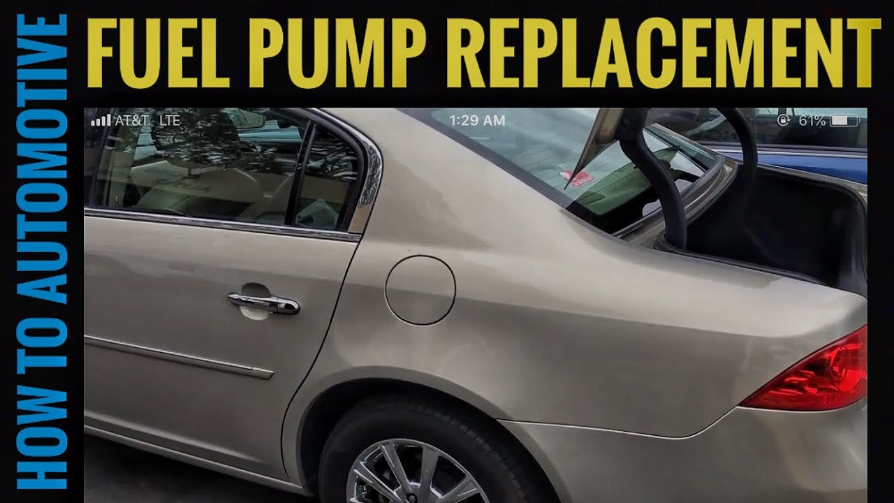 How to Replace the Fuel Pump on a 2009 Buick Lucerne - YouTube