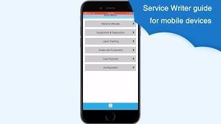 AutoRepair Cloud - Service Writer guide for mobile devices