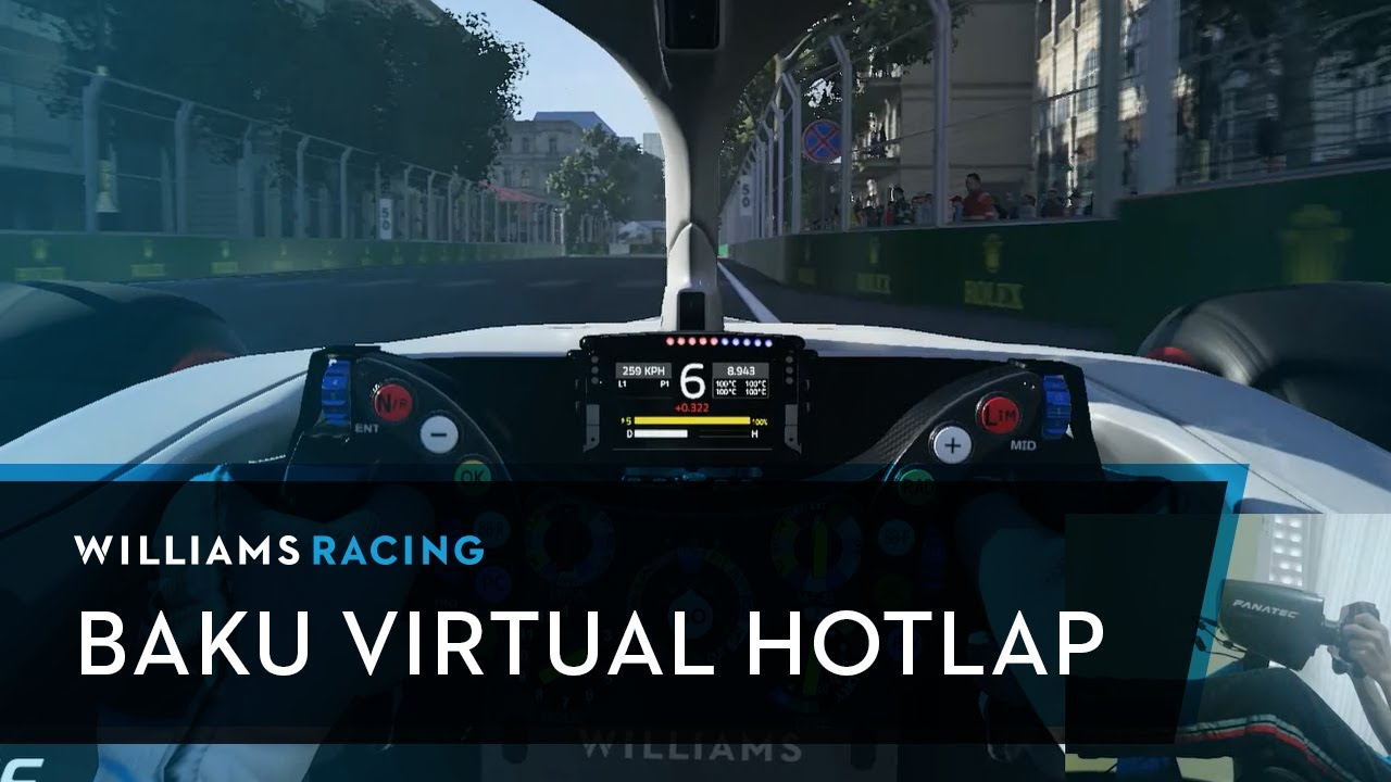 Virtual Baku: Hotlap with Williams ace Michael Romanidis