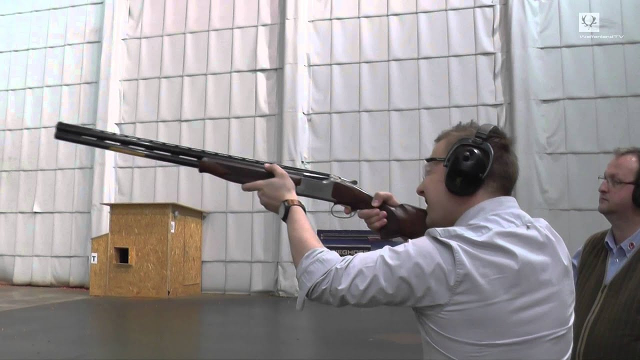 Indoor Clay Pigeon Shooting At The Mszu Ulm Germany Youtube
