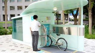New technology for parking bicycles تقنية حديثة لتخزين (اصطفاف) الدراجات