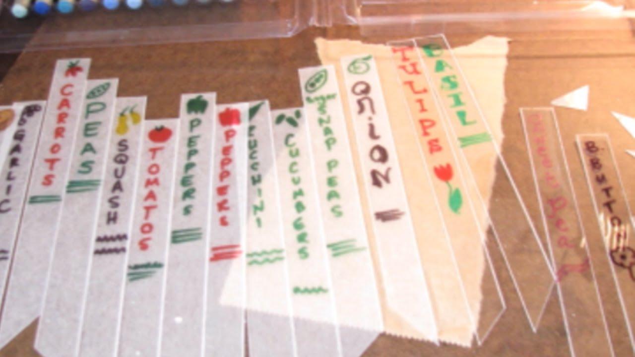 Eccezionale Crea delle Graziose Etichette per Piante - Fai da Te Casa  EU21