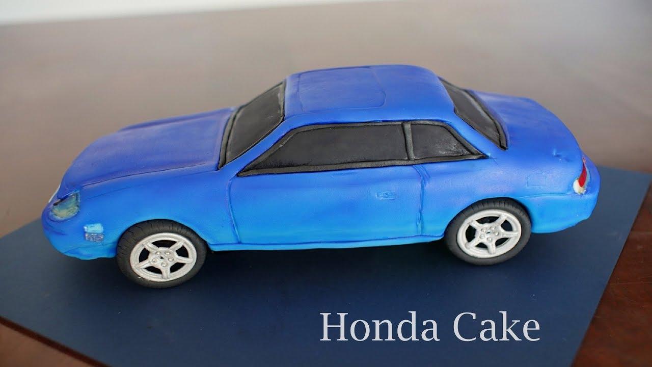 How To Make A 3d Car Cake Honda Prelude Youtube