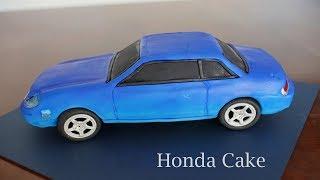 How to Make a 3D Car Cake - Honda Prelude