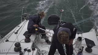 Les marins du Team Bretagne-CMB à une semaine de l'arrivée de La Transat en Double 🔊