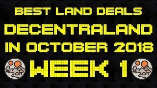 Best Deals in Decentraland in October - Week 1 | Market Analysis