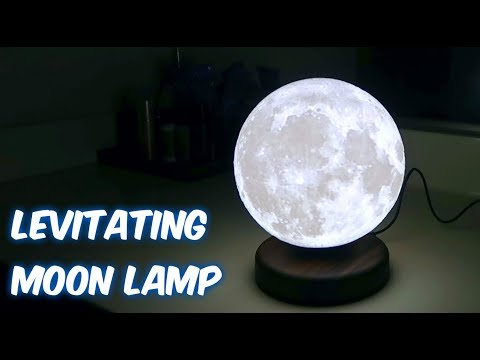 World's First Levitating Moon Lamp!