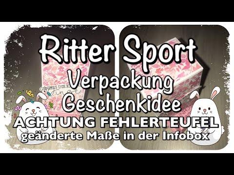 Anleitung/Tutorial Ritter Sport Verpackung, Spender, basteln mit Papier, Scrapbook, DIY