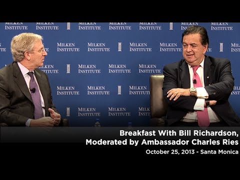 MI Breakfast With Bill Richardson, Moderated by Ambassador Charles Ries