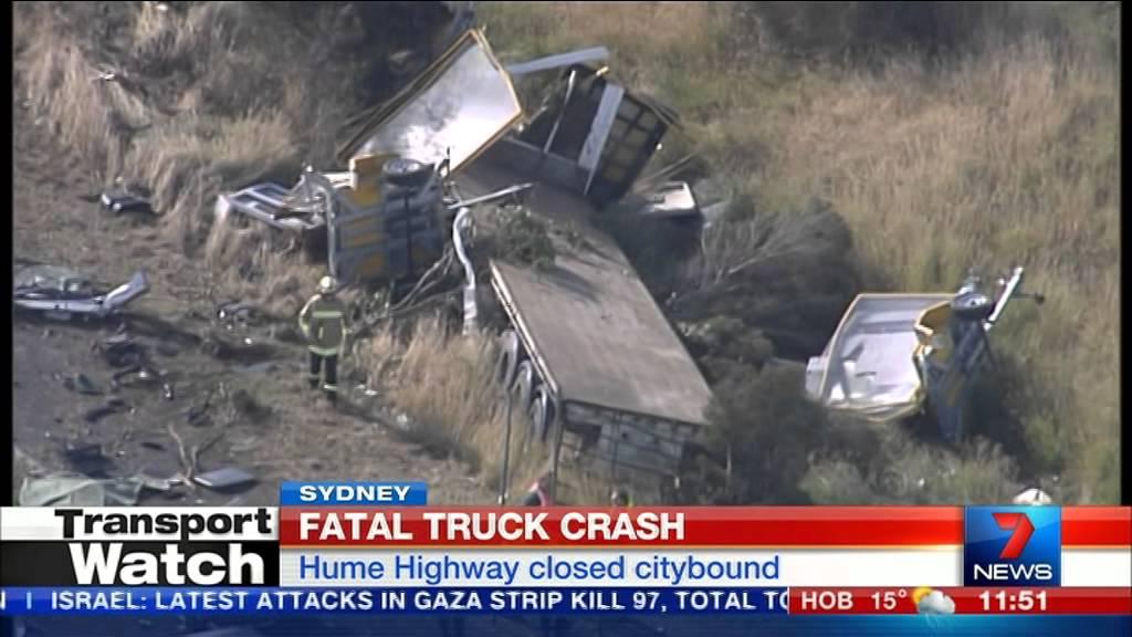 Fatal truck crash @ Ingleburn