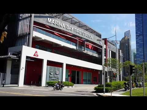 SCDF LF171 FB171 MARINA BAY FIRE STATION