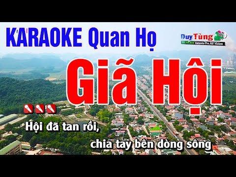 Karaoke || Giã Hội - Tone Nữ || Nhạc Sống Duy Tùng