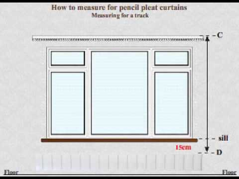 Curtains Online Video tutorial  - How to measure for made to measure pencil pleat curtains track