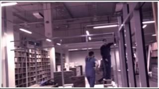 Монтаж окон ( офисных перегородок  из алюминия )(, 2015-01-26T11:54:23.000Z)