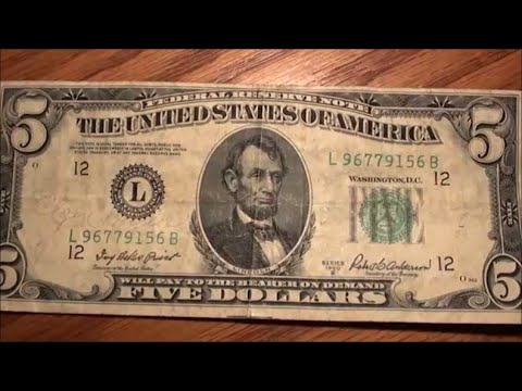 super OLD FIVE DOLLAR BILL just found series 1950 B