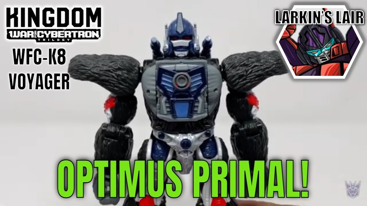 Transformers Kingdom Voyager Optimus Primal Review WFC-K8 by Larkin's Lair