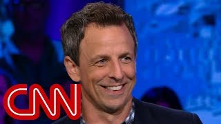 Download Seth Meyers explains why he's tough on Trump Mp3 and Videos