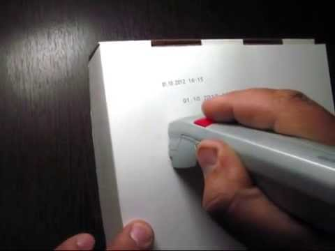 Ручной датер - YouTube
