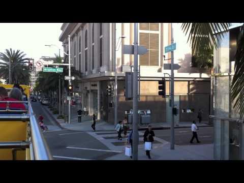 drive down Santa Monica Blvd., Rodeo Drive, Los Angeles