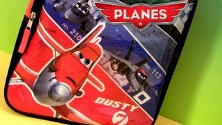 Disney Planes Toys Backpack Dusty, Ripslinger, Bravo and Echo Pixar Cars review by Disneycollector
