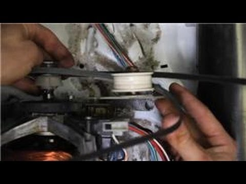 Washer Dryer Repair How To Put A Belt On A Dryer Drum Youtube