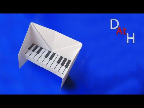Как сделать оригами пианино