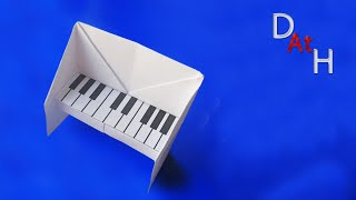 Как ЛЕГКО сделать пианино из бумаги (Оригами пианино)