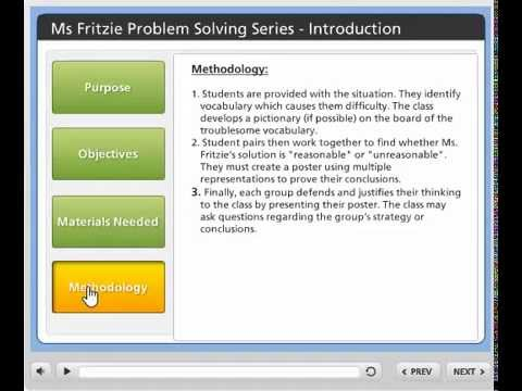 ms. fritzie problem solving