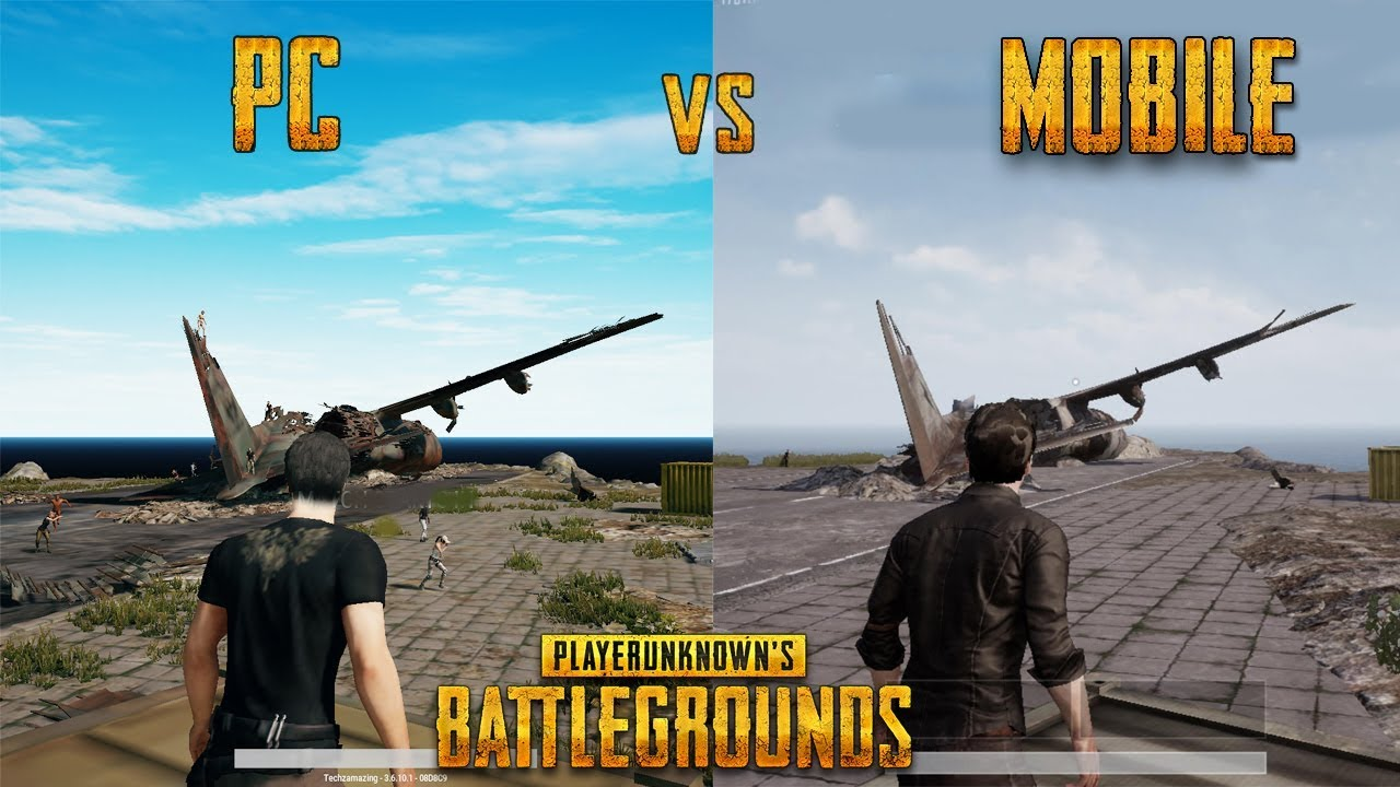 Player Unknown S Battlegrounds Pc Vs Mobile Gameplay Pubg Youtube