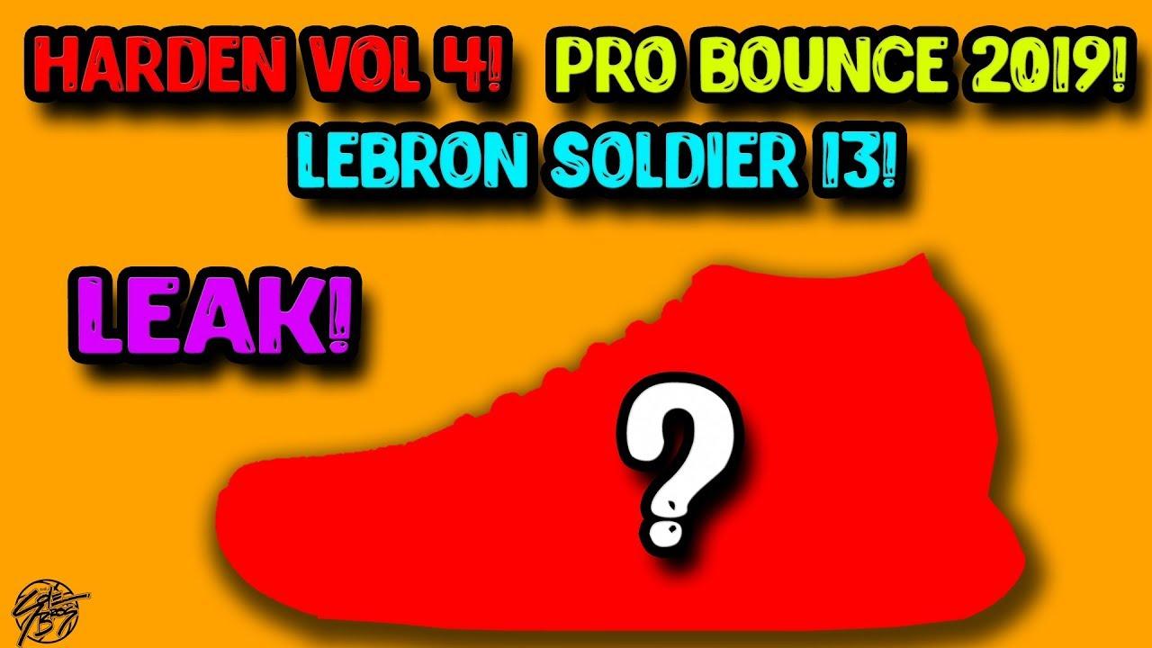 2b4c00a9886 Nike   Adidas 2019 Basketball Shoe LEAKS! HARDEN VOL 4! Lebron Soldier 13!