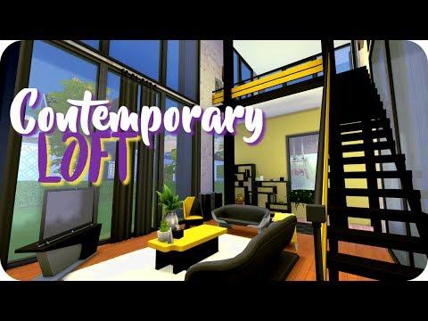 Sims 4: CONTEMPORARY LOFT | Speed Build