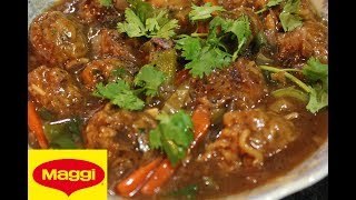 Masala Maggi Pakoda Curry | Maggi Chow Ball Manchurian |ম্যাগি নুডলস বল মানচুরিয়ান