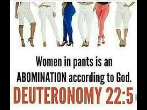 women should not wear pants