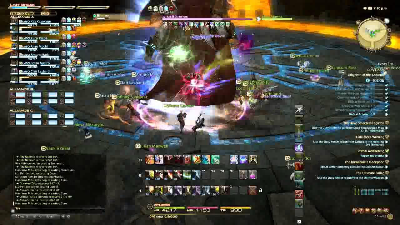 [FFXIV] A Realm Reborn - Acheron, final boss of Labyrinth of the Ancients   CT Raid